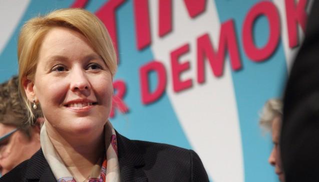 Noch überaschender ist die Nominierung von Franziska Giffey (SPD, 39) als neue Familienministerin. Giffey war bislang Bürgermeisterin im Berliner Bezirk Neukölln. (Foto: Imago)