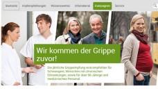 Zeit für die Grippeimpfung: BZgA und RKI starten ihre gemeinsame Kampagne. (Screen: impfen-info.de/grippe)