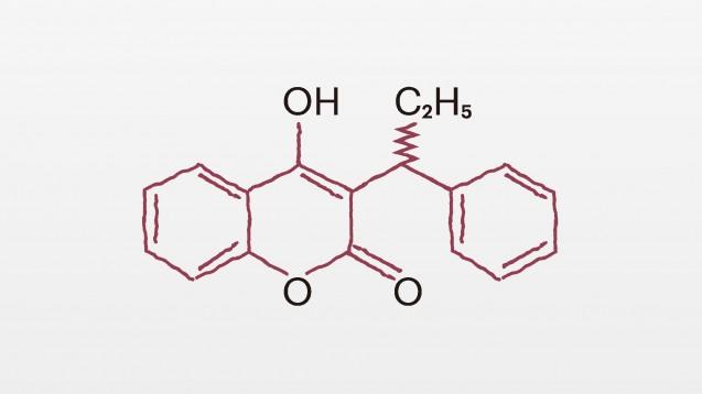 Das Antikoagulans Phenprocoumon hemmt als Vitamin-K-Antagonist indirekt die Blutgerinnung. (Bild: DAZ.online)