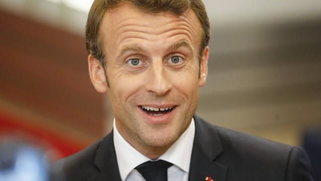 Frankreichs Staatspräsident Emmanuel Macron findet, dass ein Aus für die Homöopathika-Erstattung unpopulär wäre. (Foto: imago images / Belga)