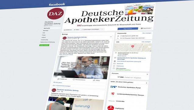 Facebook, Twitter, Xing, Instagram: DAZ.online ist auch in den sozialen Netzwerken vertreten.