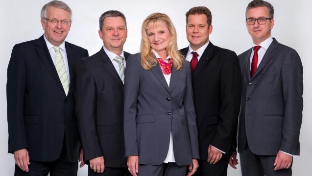 Das neue MVDA-Präsidium: Klaus Lieske, Dr. Holger Wicht, Gabriela Hame-Fischer, Dr. Sven Simons, Jürgen Lutsch (v.l.).