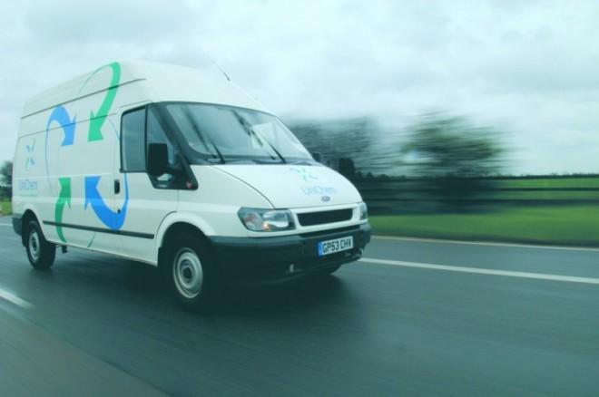 A AU van on a road.jpg