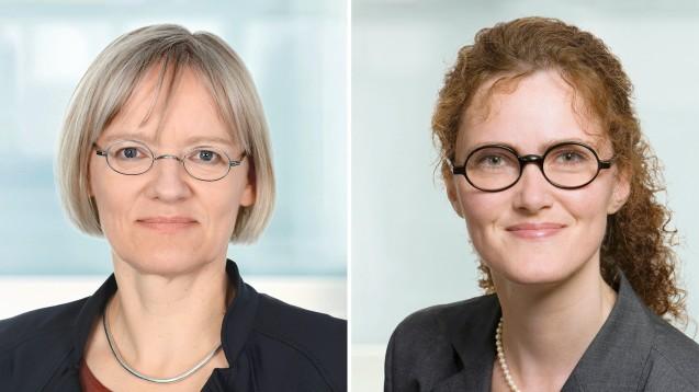 Sabine Richard (li.) und Sabine Beckmann (Apothekerin) sind im AOK-Bundesverband für Versorgungs- und Arzneimittelthemen zuständig. Im Interview mit DAZ.online gehen sie auf Fragen ein, die aus einem längeren Aufsatz zum Apothekenmarkt entstanden sind. (c / Foto: AOK-BV)