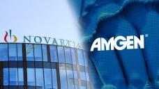 Novartis und Amgen sind sich uneins: Es geht um die Vermarktungsrechte vom Migräne-Antikörper Aimovig. ( r / Foto: imago | amgen.com)