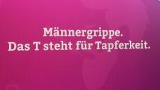 Mit Sprüchen zur Männergrippe erregte OTC-Hersteller Klosterfrau 2016 auf der Expopharm Aufmerksamkeit. (Fotos DAZ.online)