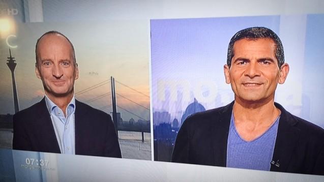 Friedemann Schmidt war heute morgen im Morgenmagazin zu sehen. (Foto: DAZ.online)