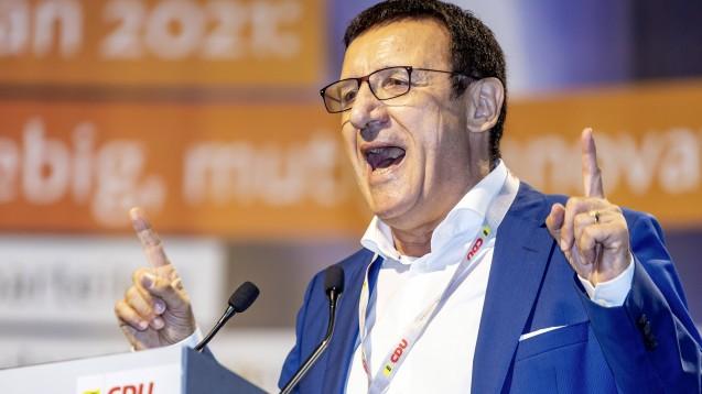 Wolfgang Reinhart, Chef der CDU-Landtagsfraktion in Baden-Württemberg, wünscht sich geringere Preise für FFP2-Masken. (c / Foto: imago images / Arnulf Hettrich)