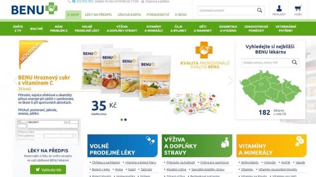 Aus Sunpharma wird Benu. Pharmagroßhändler Phoenix benennt Apotheken in Tschechien und Slowakai um. (Screenshot: DAZ.online)