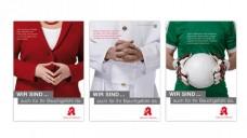Plakatmotive für den Tag der Apotheke zum Thema Magen-Darm-Beschwerden. (Foto: ABDA/DAZ)