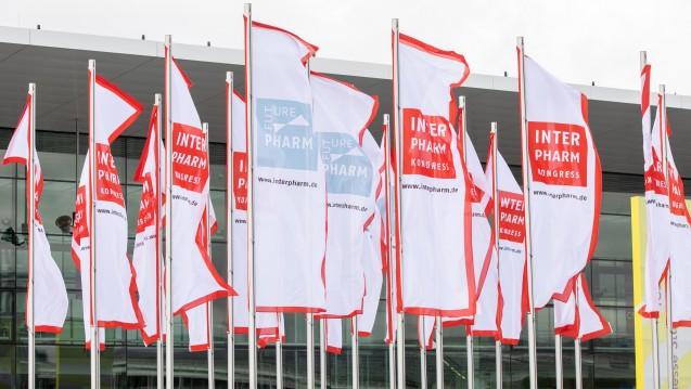 Die Interpharm-Fahnen wehten in diesem Jahr vor dem ICS in Stuttgart. (Fotos: as, lp und mb)