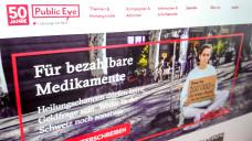 Der Schweizer Verein Public Eye hat eine Kampagne gegen aus seiner Sicht zu hohe Arzneimittelpreise gestartet. (Screenshot: .publiceye.ch/de/)