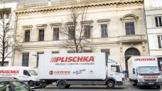 Umzugswagen vor dem Mendelsohn-Palais: Die ABDA zieht aus. (Foto: Philipp Külker)