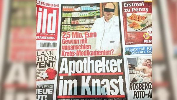 Zyto-Apotheker in Untersuchungshaft