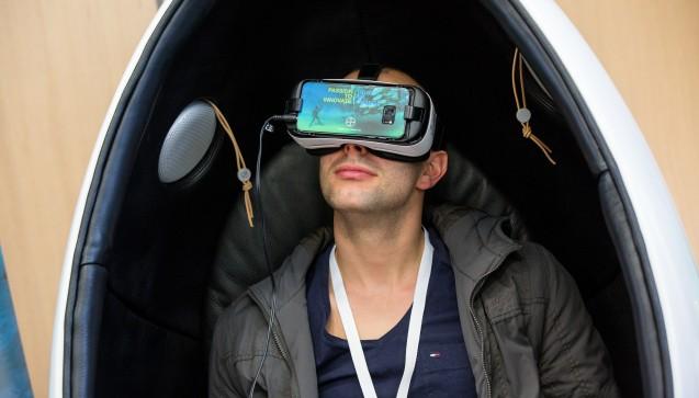 """Auf dem Karrieretag gab es neben viel """"Echtem"""" für die Teilnehmer auch Virtuelles zu erleben."""