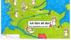 """Motiv der Kampagne """"Ick bün all dor!"""" der schleswig-holsteinischen Apotheker. (Quelle: Dr. Kai Christiansen)"""
