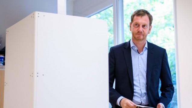 Die CDU von Ministerpräsident Michael Kretschmer stellt in Sachsen weiterhin die stärkste Fraktion. (Foto: imago images / Xinhua)
