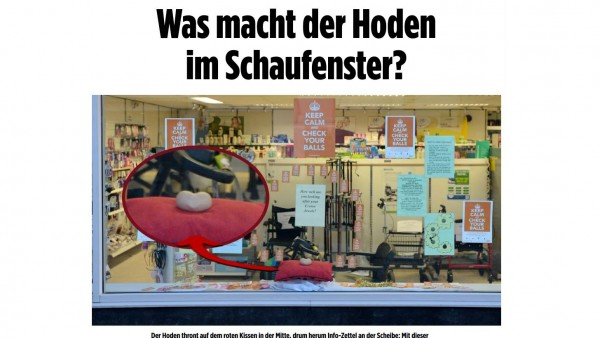 """""""Kronjuwelen"""" im Apothekenschaufenster – originell oder  total daneben?"""