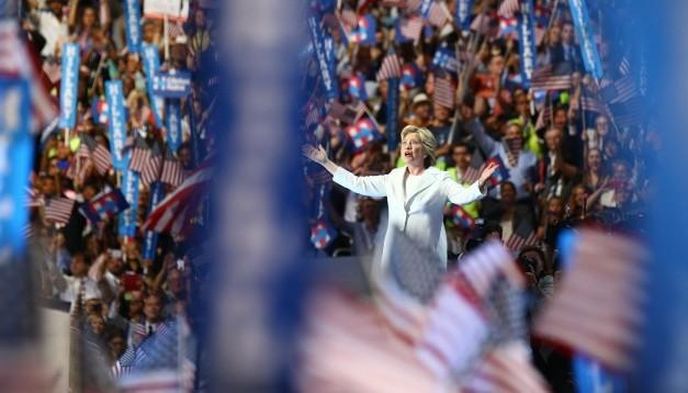 29.07.2016 –Hillary Clinton beim Nominierungs-Parteitag der Demokraten: Wie hätte sich das US-Gesundheitssystem mit ihr verändert?(Foto: dpa)
