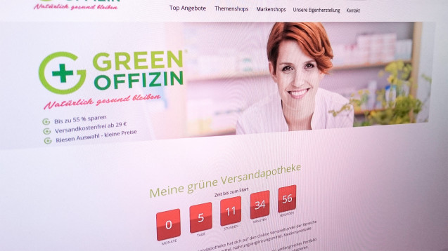 Zum Start der Versandapotheke Green Offizin gibt es noch viele offene Fragen. (Screenshot: DAZ.online)