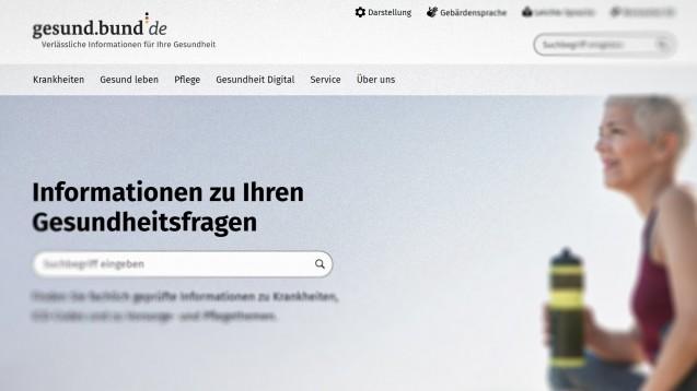 Verstößt die Kooperation zwischen dem BMG und Google gegen den Medienstaatsvertrag? (Screenshot gesund.bund.de)