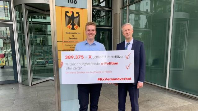 Die Petition für ein Rx-Versandverbot ist mit rund 390.000 Mitzeichnern die erfolgreichste Online-Petition, die beim Bundestag eingereicht wurde. (c / Foto: Bühler)