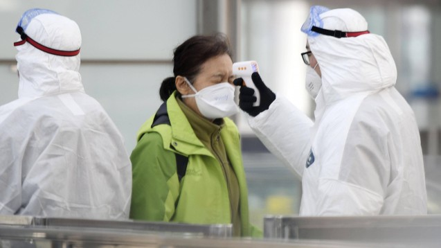 Das aus China stammende Coronavirus (hier ein Symbolfoto) wurde nun erstmals in Deutschland nachgewiesen. (c / Foto: imago images / Kyodo)