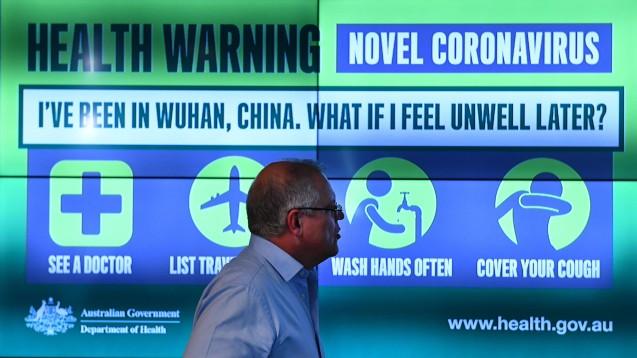 Bislang gibt es keine Fälle des neuartigen Coronavirus 2019-nCoV in Europa und Australien. Dennoch rüsten sich die Länder. Das RKI hat nun Empfehlungen veröffentlicht, welche Patienten mit Atemwegssymptomen auf Coronaviren gecheckt werden sollen. (m / Foto: imago images / AAP)