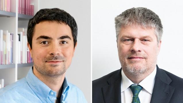 Im Online-Live-Talk stellte sich Thomas Dittrich (rechts) den Fragen von DAZ-Chefredakteur Dr. Armin Edalat. (Fotos: DAZ   ABDA)