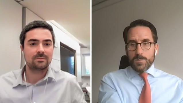 Rechtsanwalt Dr. Jan-Philipp Hoos, der vorläufige AvP-Insolvenzverwalter, stellte sich heute den Fragen von DAZ-Chefredakteur Armin Edalat. (Foto: Kanzlei White & Case)