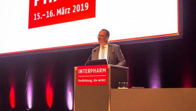 Dr. Benjamin Wessinger hat die Jubiläums-Interpharm in Stuttgart eröffnet.