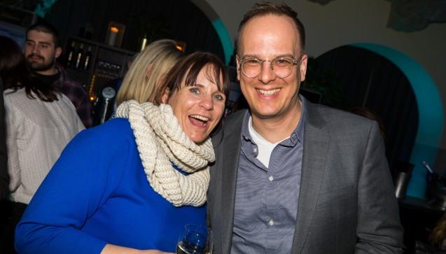 DAZ.online-Chefredakteurin Julia Borsch und DAV-Geschäftsführer Dr. Benjamin Wessinger.