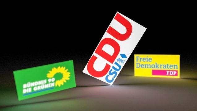 Am heutigen Freitag kamen die Unterhändler der vier Parteien zusammen, um einen Zwischenbilanz zu ziehen. (Foto: picture alliance / dpa)