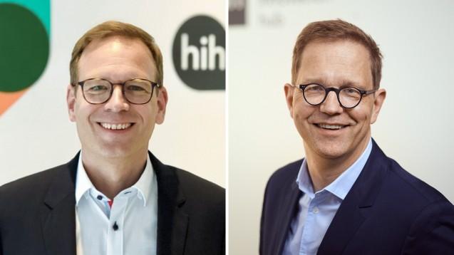 Apotheker Ralf König und Dr. Philipp Stachwitz vom Health Innovation Hub. (m / Foto: Jan Pauls)