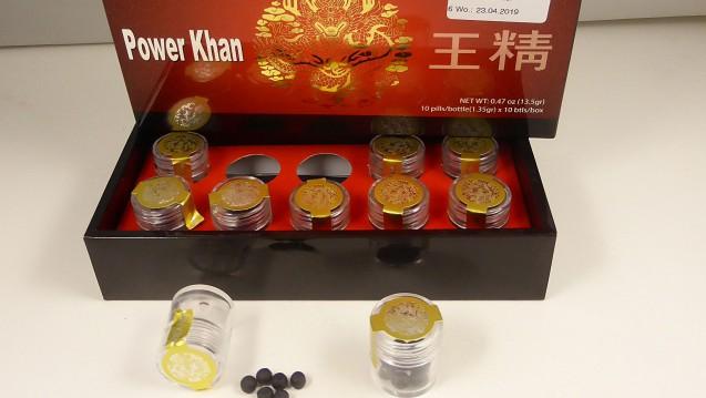 Wieder einmal wurde der Viagra-Wirkstoff Sildenafil in einem im Internet als rein pflanzliches Präparat zur Behandlung von Potenzstörungen beworbenen Präparat– Power Khan– gefunden. ( r / Foto: LUA)