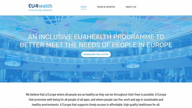 """EU4Health ist laut Kommissionsvizepräsident Margaritis Schinas """"eine der greifbarsten und konkretesten Antworten auf COVID-19"""". (Screenshot: EU4Health.eu)"""