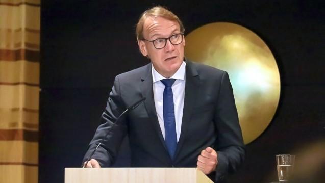 Thomas Preis, Vorsitzender des Apothekerverbandes Nordrhein, bei der Mitgliederversammlung in Düsseldorf. (r/Foto:Müller/AVNordrhein)