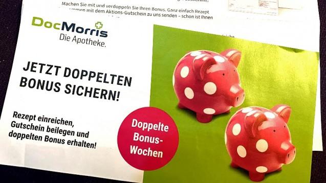 Recht egal: Bis zum 31. Januar 2021 will DocMorris seinen Bestandkunden einen doppelten Bonus gewähren. (p / Foto: DAZ.online)