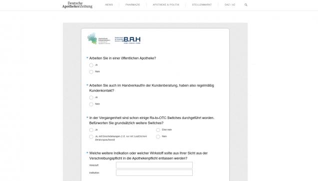 Zudem führen wir Umfragen durch, zum Beispiel zum Thema OTC-Switchesin Kooperation mit dem Bundesverband der Arzneimittelhersteller.