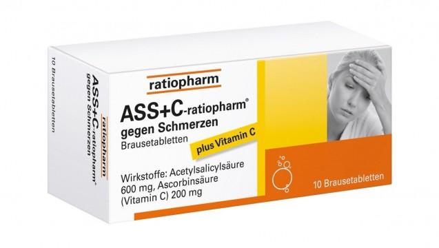 Werbung mit den positiven Wirkungen des Vitamin C von ASS+C-Präparaten? Das ist laut aktuellem Urteil des OLG Stuttgart nicht erlaubt. (Foto: Ratiopharm)