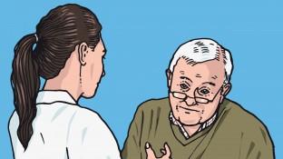 Ein Patient mit Rückenschmerzen