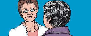 Eine Patientin mit Restless-Legs-Syndrom