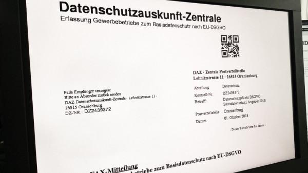 """Einstweilige Verfügung gegen """"Datenschutzauskunft-Zentrale (DAZ)"""""""