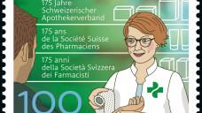 Diese Sondermarke ist seit kurzem in den Schweizer Postfilialen zu haben. (Foto: pharmasuisse)